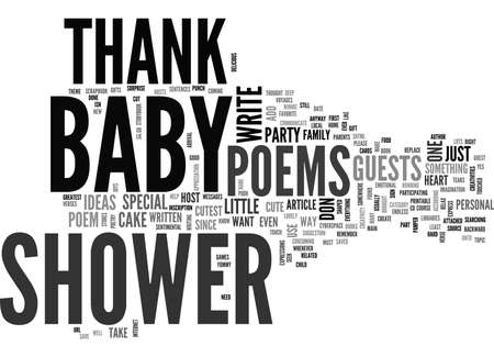 BABY SHOWER THANK YOU POEMS SPECIAL GIFTS FROM YOUR HEART TEXT WORD CLOUD CONCEPT