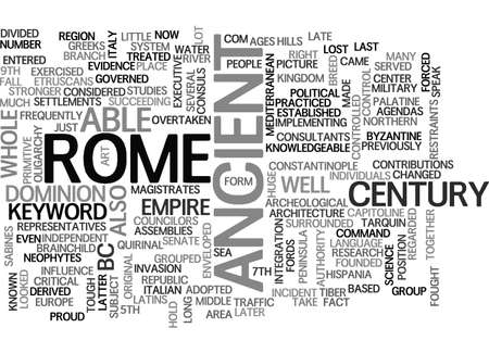 ANCIENT ROME MILITARY TEXT WORD CLOUD CONCEPT