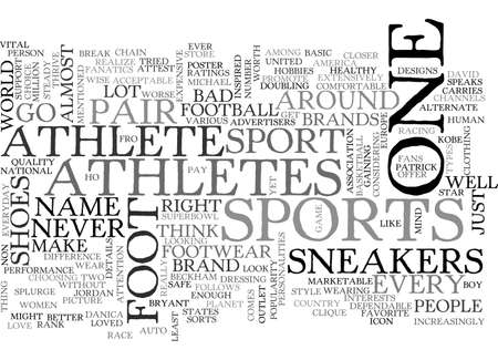 ATHLETES FOOT SNEAKERS IT IS TEXT WORD CLOUD CONCEPT