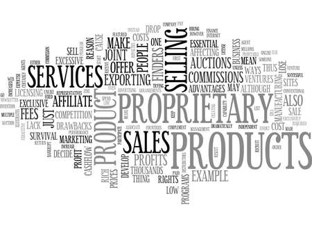 YOUR OWN PRODUCTS CAN MAKE YOU RICH TEXT WORD CLOUD CONCEPT