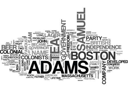 WHO WAS SAMUEL ADAMS TEXT WORD CLOUD CONCEPT
