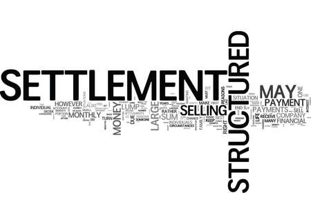 WHEN TO SELL YOUR STRUCTURED SETTLEMENT TEXT WORD CLOUD CONCEPT