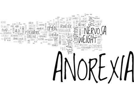 WHAT IS ANOREXIA NERVOSA TEXT WORD CLOUD CONCEPT