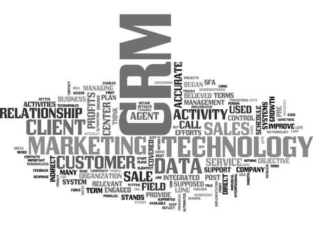 WHAT IS CRM TEXT WORD CLOUD CONCEPT