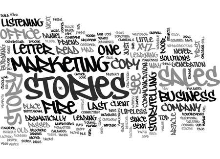 WHY FACTS TELL AND STORIES SELL TEXT WORD CLOUD CONCEPT