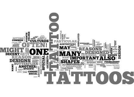 WHY GET A TATTOO TEXT WORD CLOUD CONCEPT