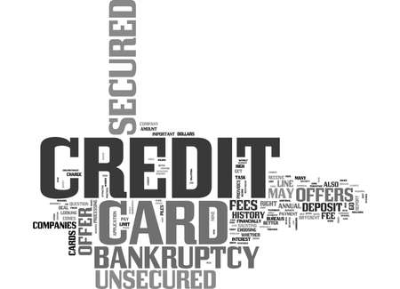 WHY CHOOSE A SECURED CREDIT CARD OFFER AFTER BANKRUPTCY TEXT WORD CLOUD CONCEPT