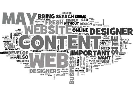 WEB DESIGN WHY IS CONTENT SO IMPORTANT TEXT WORD CLOUD CONCEPT