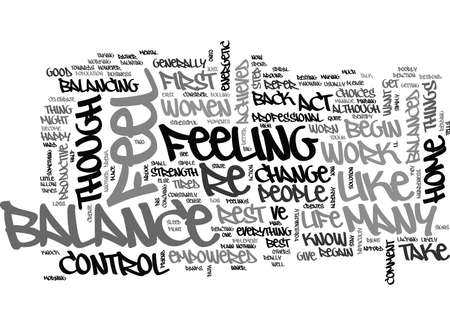 WHAT ARE THE SIGNS OF A LIFE OUT OF BALANCE TEXT WORD CLOUD CONCEPT