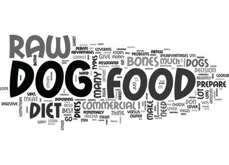 WOULD A RAW DIET BE BEST FOR MY DOG TEXT WORD CLOUD CONCEPT