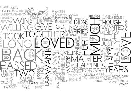 WHAT SHOULD I DO TO WIN BACK LOVE DO IT RIGHT TEXT WORD CLOUD CONCEPT