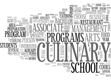 WHY GO TO A CULINARY SCHOOL TEXT WORD CLOUD CONCEPT