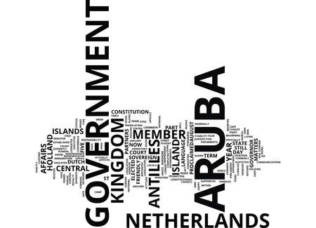 ARUBA GOVERNMENT Text Background Word Cloud Concept
