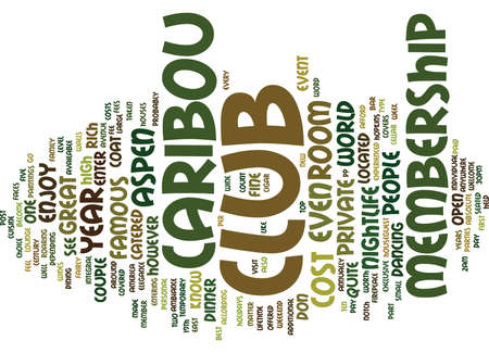 ASPEN NIGHTLIFE THE CARIBOU CLUB Text Background Word Cloud Concept