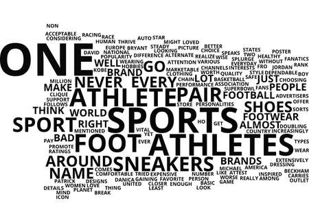 ATHLETES FOOT SNEAKERS IT IS Text Background Word Cloud Concept