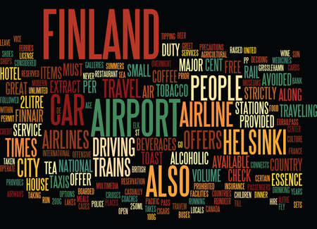 FINLAND Text Background Word Cloud Concept