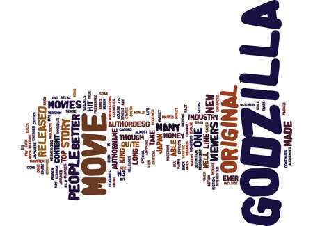GODZILLA MOVIES Text Background Word Cloud Concept