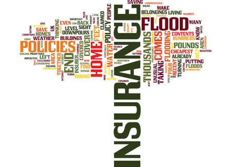FLOOD INSURANCE COULD SAVE YOU THOUSANDS Text Background Word Cloud Concept