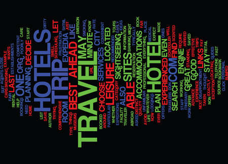 GREAT WEBSITE TO BOOK YOUR HOTEL IN ADVANCE Text Background Word Cloud Concept