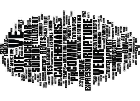 LE REVE Text Background Word Cloud Concept
