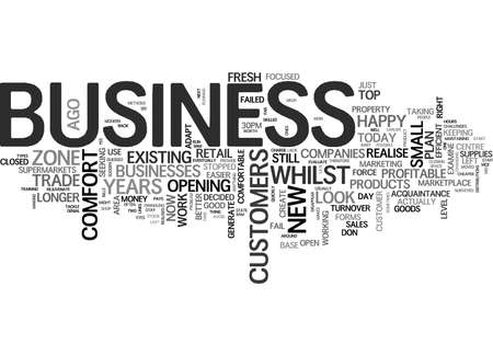 IS YOUR BUSINESS IN THE COMFORT ZONE Text Background Word Cloud Concept