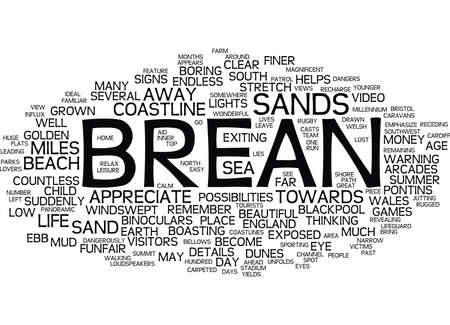 LANDSCAPES OF ENGLAND BREAN Text Background word cloud concept