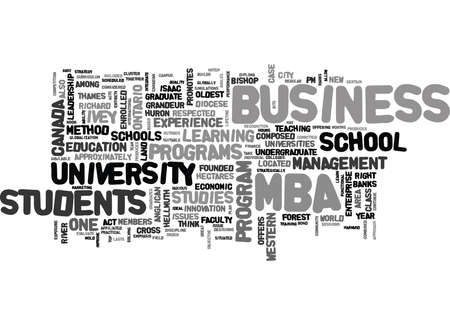 IVEY SCHOOL OF BUSINESS Text Background Word Cloud Concept