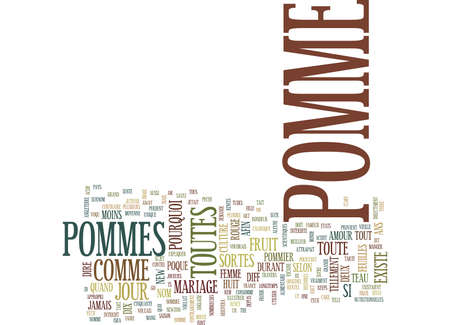 LA POMME EST MAGIQUE Text Background Word Cloud Concept