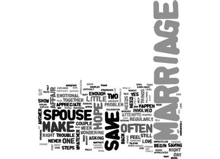 IS THERE HOPE TO SAVE A MARRIAGE IN TROUBLE Text Background Word Cloud Concept