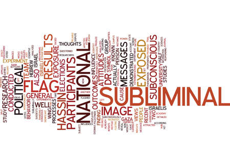 THE POWER OF SUBLIMINAL MESSAGES Text Background Word Cloud Concept