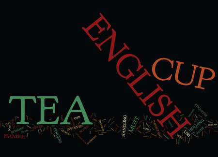 THE ENGLISH TEA CUP PROTOCOL Text Background Word Cloud