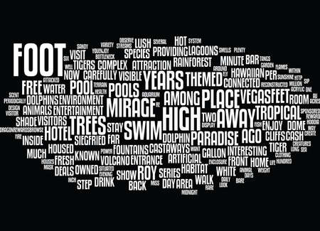 THE MIRAGE Text Background Word Cloud Concept