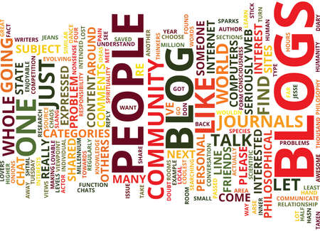 THE PROBLEMS WITH BLOGS Text Background Word Cloud Concept