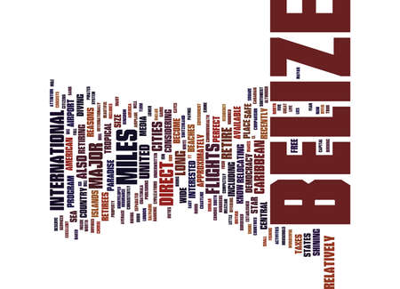 YOU DESERVE TO RETIRE IN PARADISE REASONS TO CHOOSE BELIZE Text Background Word Cloud Concept