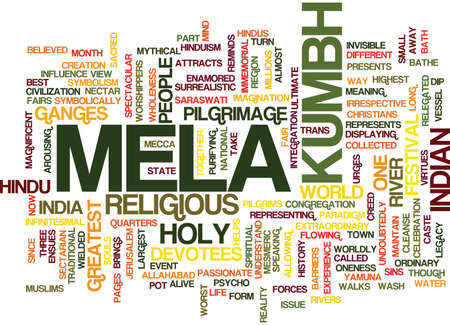 THE KUMBH MELA Text Background Word Cloud Concept