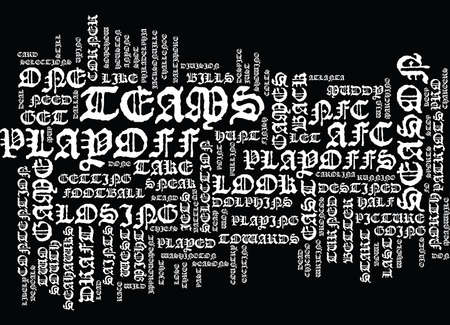 THE PLAYOFF HUNT Text Background Word Cloud Concept