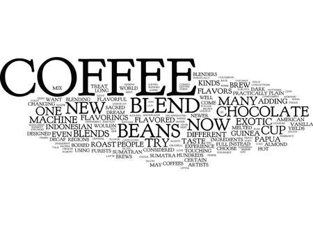 YOUR COFFEE MACHINE CAN BREW YOU ANY KIND OF COFFEE Text Background Word Cloud Concept