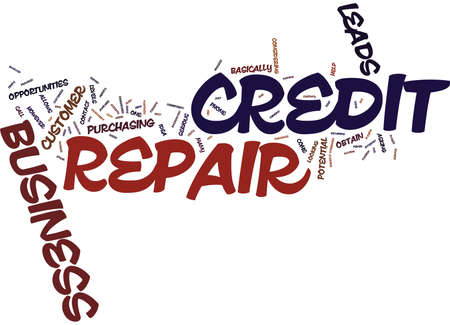 YOUR OWN CREDIT REPAIR BUSINESS Text Background Word Cloud Concept