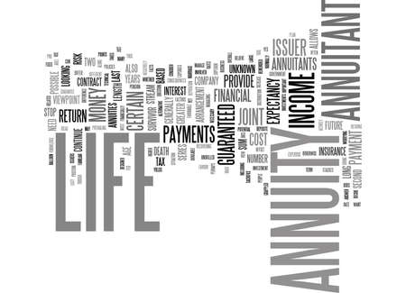 LIFE ANNUITY YES OR NO Text Background Word Cloud Concept