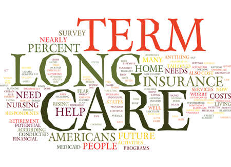 LONG TERM CARE THE IGNORED NEED Text Background Word Cloud Concept
