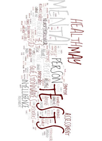 Mental Health Test Text Background Word Cloud Concept Royalty Free Vector Graphics