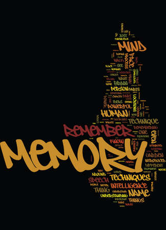 MEMORY TECHNIQUES TIPS Text Background Word Cloud Concept