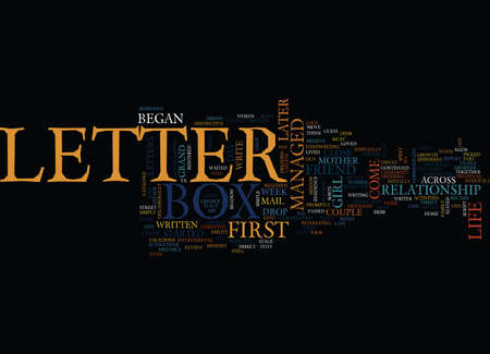 LETTER BOX Text Background Word Cloud Concept