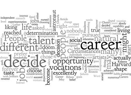 Career Choice The considerations
