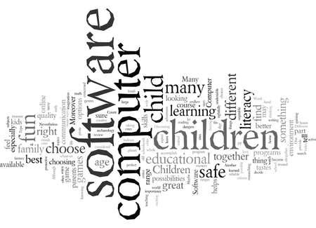 Different Types Of Childrens Computer Software