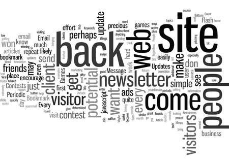Increase Web Site Visitor Return Rates