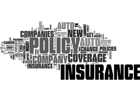 Word Cloud Summary of How To Change Auto Insurance Companies Article