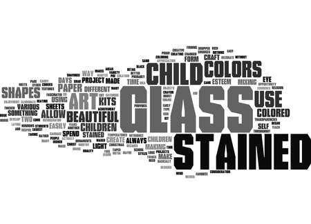 Photo for Word Cloud Summary of Stained Glass Projects for Children Article - Royalty Free Image