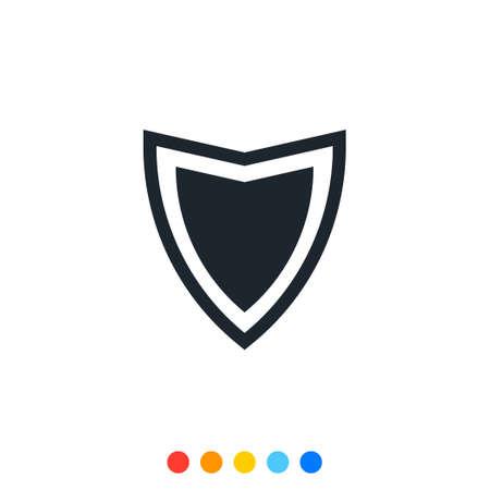 Illustration pour Protection shield icon,Interception icon,Antivirus icon. - image libre de droit