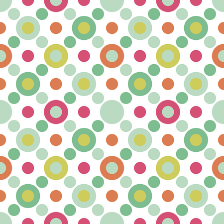 Illustration for Colorful round seamless pattern. Dotted background. Vector illustration. - Royalty Free Image